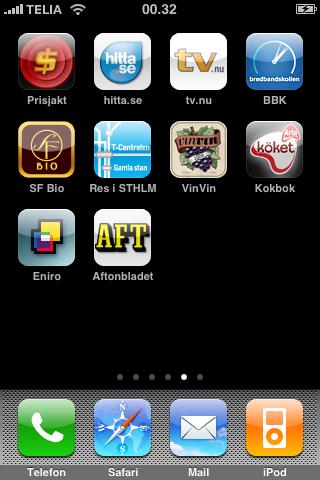 Svenska program i AppStore