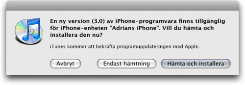 iphoneos30uppdatering